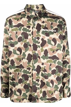 Palm Angels Camouflage-print track shirt