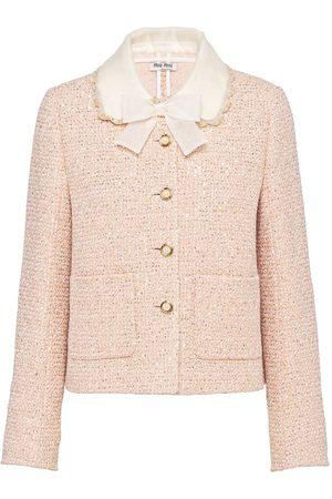 Miu Miu Sequin-detail tweed jacket