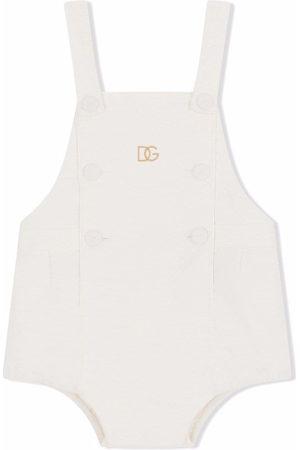 Dolce & Gabbana Logo-embroidered stretch-cotton body