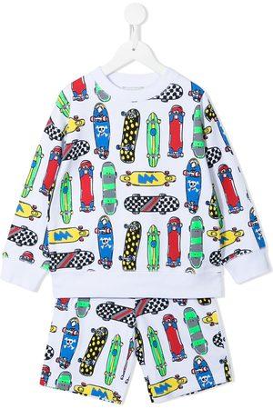 Stella McCartney Boys Tracksuits - Skateboards-print cotton tracksuit