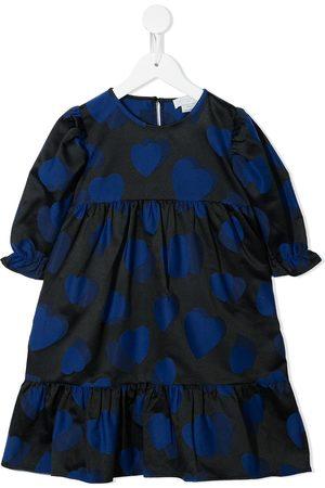 Stella McCartney Girls Printed Dresses - Heart-print empire-line dress