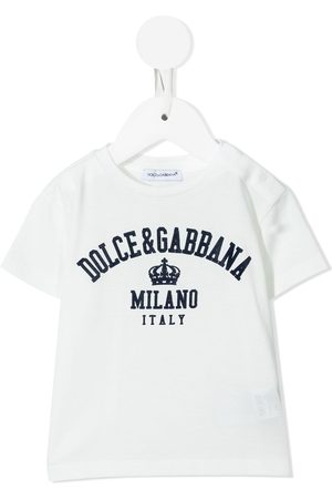 Dolce & Gabbana Short Sleeve - Logo-print cotton T-shirt