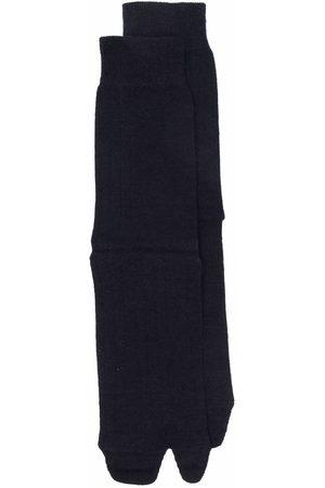 Maison Margiela Women Socks - Tabi-toe rib-knitted socks