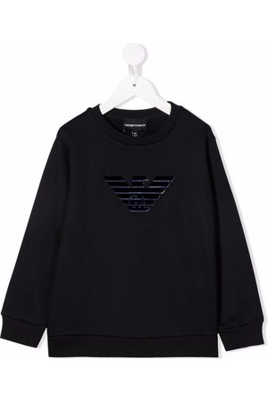Emporio Armani Logo-embroidered crew neck sweatshirt
