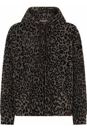 Dolce & Gabbana Leopard-print drawstring hoodie