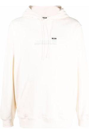 Msgm Men Hoodies - Chest-logo long-sleeve hoodie