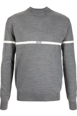 Msgm Men Sweaters - Logo-embroidered jumper