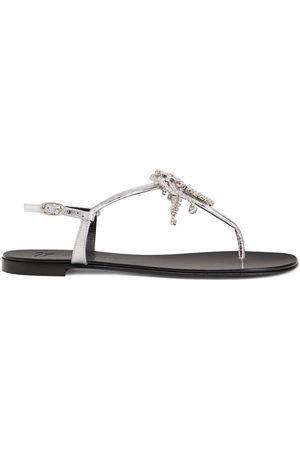 Giuseppe Zanotti Women Sandals - Nimes crystal-embellished flat sandals