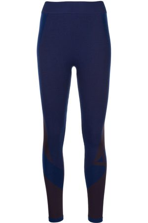 Y-3 Seamless colourblock-knit tights