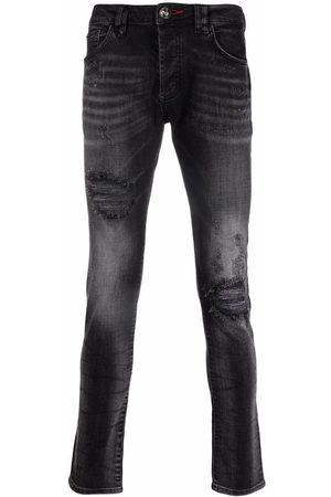 Philipp Plein Men Skinny - Iconic Plein distressed skinny jeans