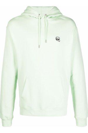 Karl Lagerfeld Men Hoodies - Logo-patch drawstring hoodie