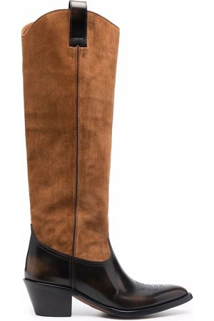 Buttero Two-tone pointed boots