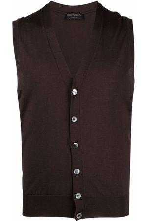 DELL'OGLIO V-neck merino wool vest