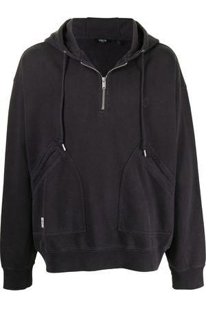 FIVE CM Plain zip hoodie