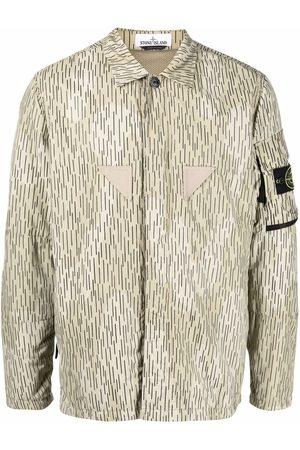 Stone Island Men Casual - Rain Camo print overshirt