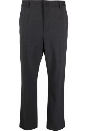 A BETTER MISTAKE Pressed-crease cropped tailored trousers