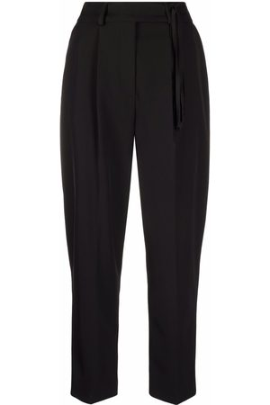 Pinko Fringe detail high-waisted tailored trousers