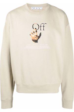 OFF-WHITE Men Sweatshirts - Caravaggio Hand logo sweatshirt