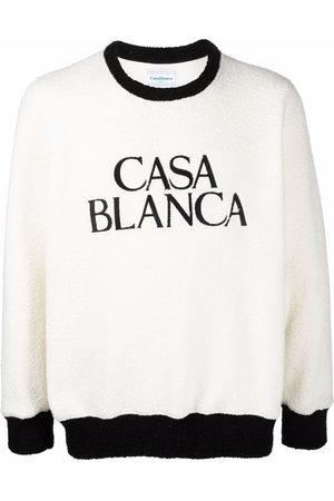 Casablanca Men Sweaters - Logo-print fleece jumper