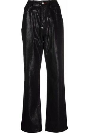 Philipp Plein Women Straight - Iconic Plein loose-denim jeans