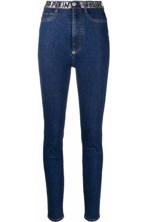 Philipp Plein Women Skinny - Logo-embellished skinny-leg jeans