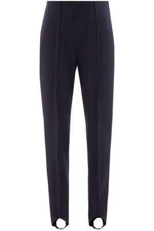 Bogner Women Ski Suits - Elaine Stirrup-cuff Jersey Ski Trousers - Womens - Navy