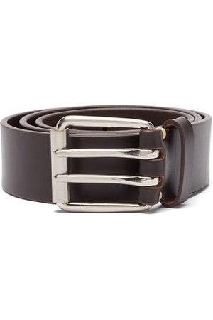 Raey Men Belts - Wide Bridle-leather Belt - Mens - Dark