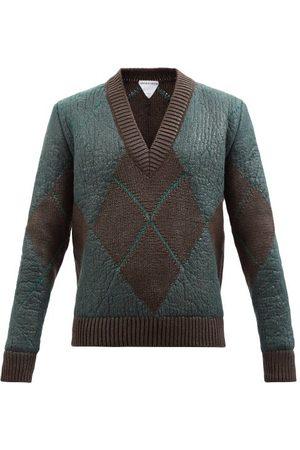 Bottega Veneta Argyle Wool-blend Sweater - Mens - Multi