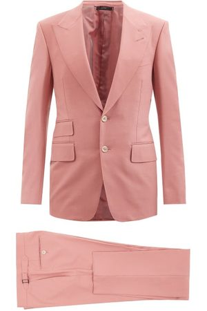 Tom Ford Men Suits - Shelton Single-breasted Canvas Suit - Mens