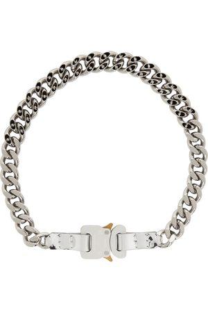 1017 ALYX 9SM Women Necklaces - SSENSE Exclusive Silver Leather Trim Chain Necklace
