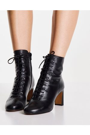 Whistles Dahlia lace-up boots in