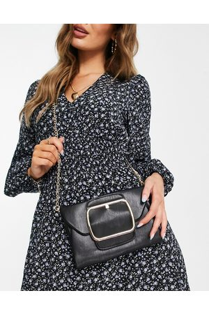 My Accessories London cross-body bag with oversized buckle in