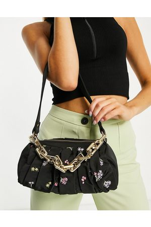 Skinnydip Palmoa pleated shoulder bag in ditsy floral