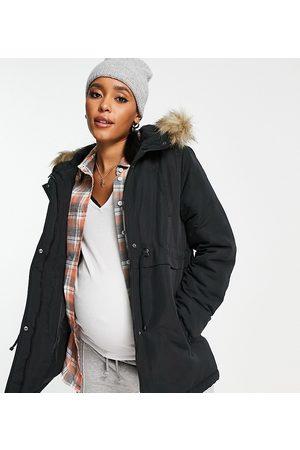 Mama Licious Mamalicious Maternity recycled parka coat in