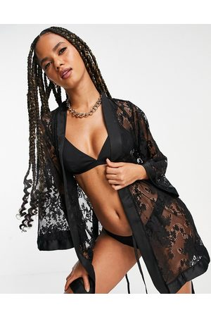 Ann Summers Dark Hours sheer lace kimono in