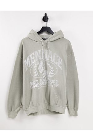 Mennace Men Sweatshirts - Pullover hoodie in light with boot camp print