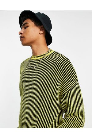 ASOS Oversized plated rib stripe jumper in