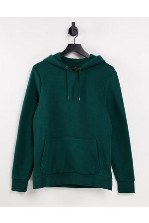 River Island Men Hoodies - RI muscle fit hoodie in green