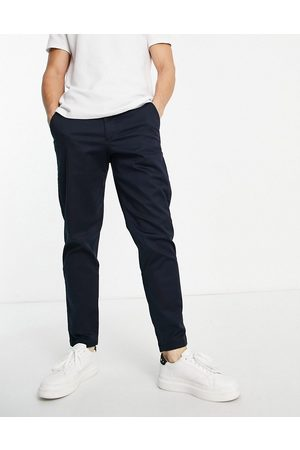 SELECTED Men Chinos - Chinos in slim tapered fit in navy