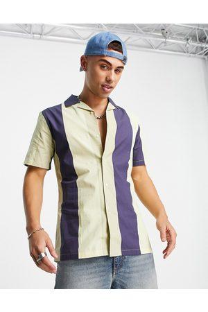 Harry Brown Slim fit short sleeve revere stripe shirt