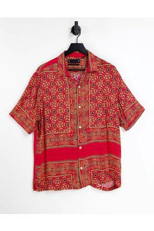 AllSaints Men Short Sleeve - Sinaloa bandana short sleeve print shirt in