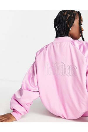 adidas Women Bomber Jackets - 2000s Luxe' satin bomber jacket in with diamante