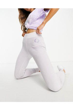 Lipsy London Women Joggers - Glitter logo velour trackies in -Purple