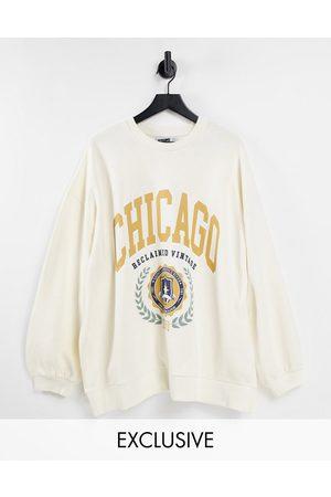 Reclaimed Sweatshirts - Inspired Chicago unisex sweatshirt-White