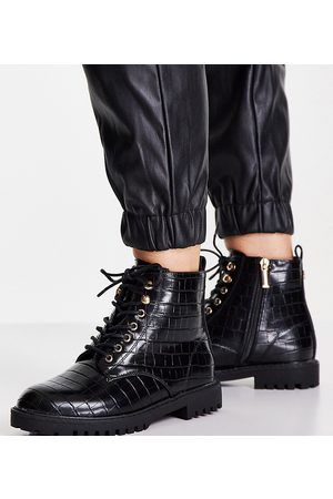 Miss KG Women Lace-up Boots - Wide fit hannah lace-up patent boots in