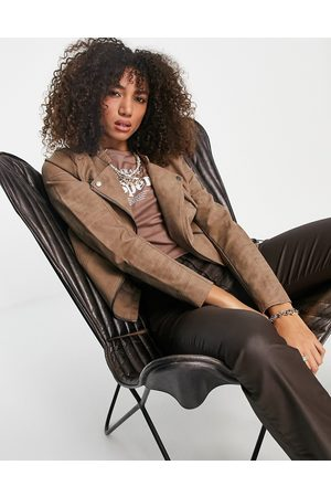 ONLY Women Leather Jackets - Faux leather jacket in