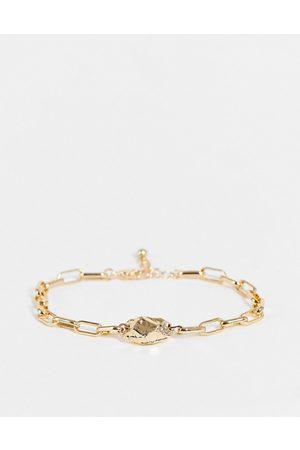 DesignB London DesignB metal stone chain bracelet in