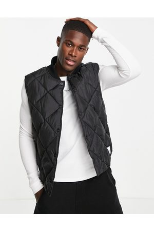 Topman Recycled quilted vest in