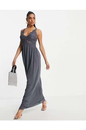 TFNC Lace detail maxi dress in