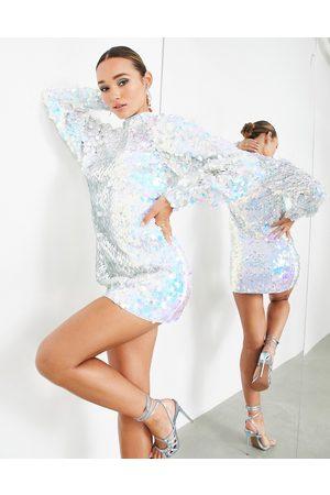 ASOS Mini dress in iridescent square sequin